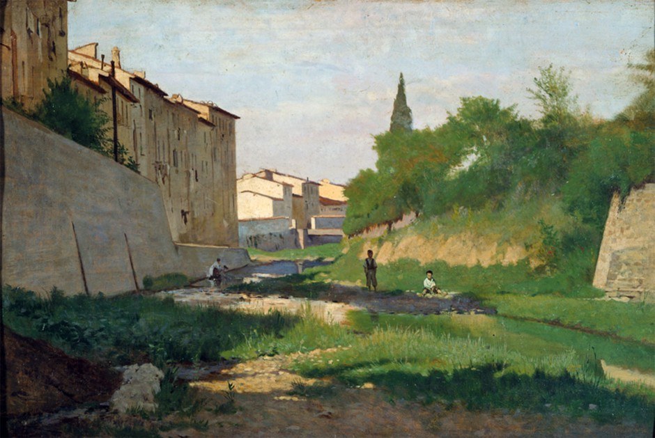Odoardo Borrani, Il mugnone, 1870-72