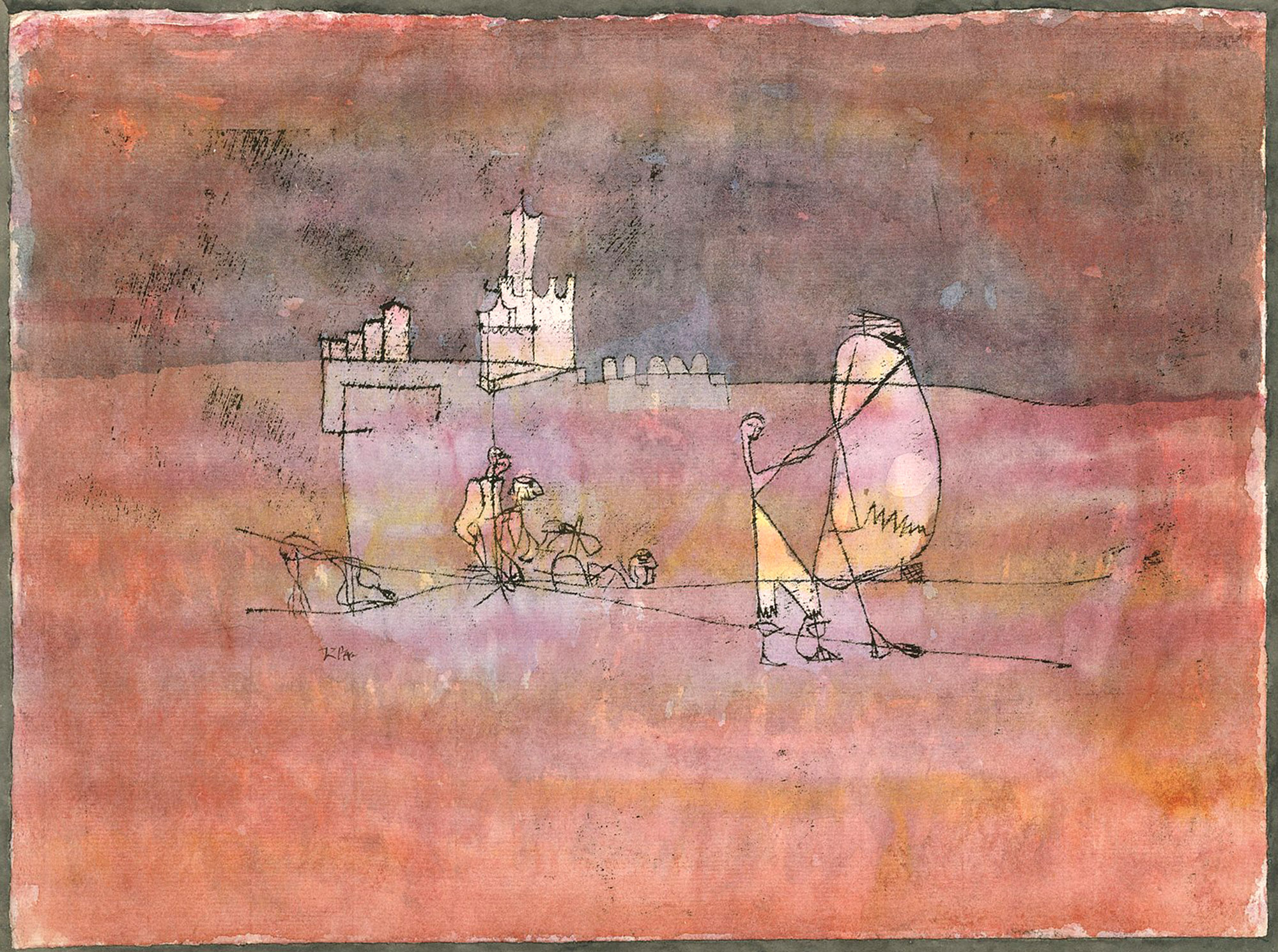 Paul Klee, Episodio prima di una città araba, 1923