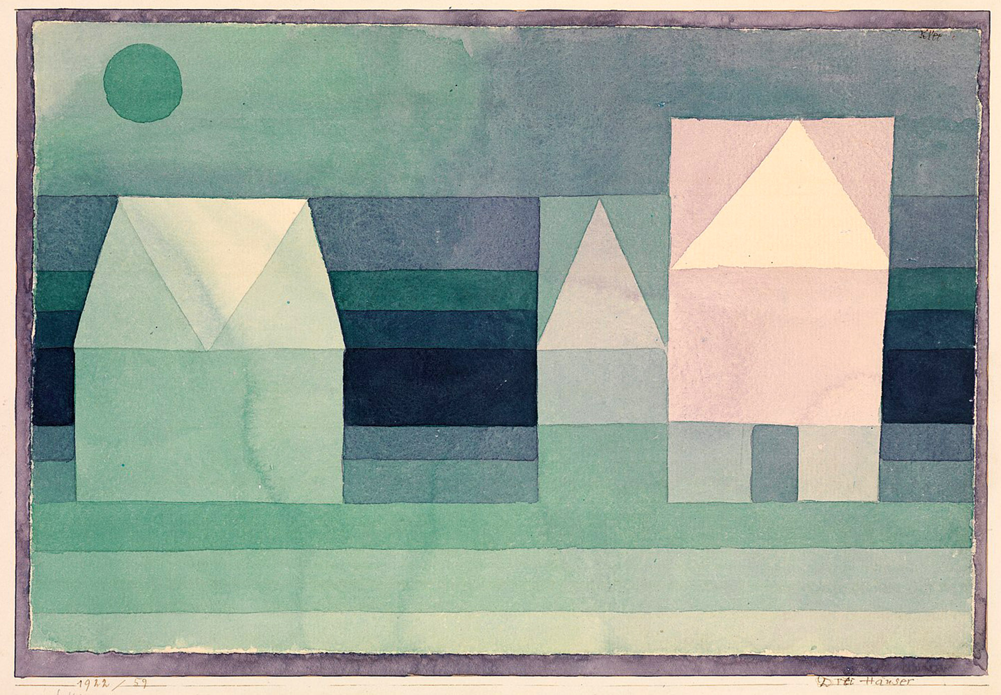Paul Klee, Tre case, 1922