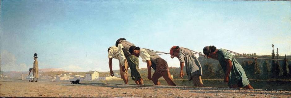 telemaco signorini, l'alzaia, 1864