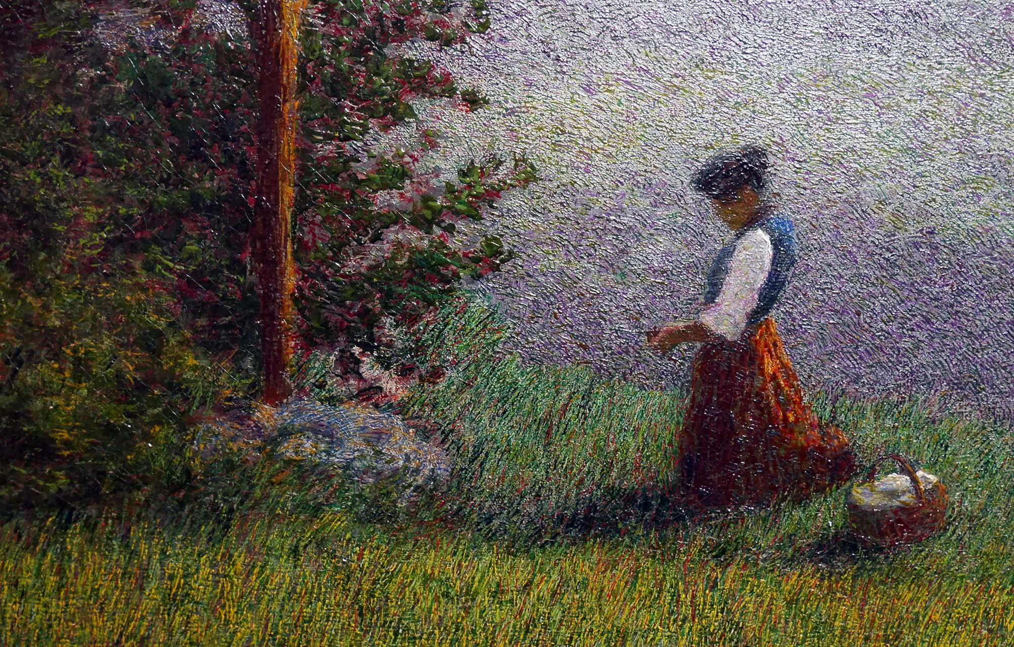 Angelo Morbelli, Ave Maria, 1914-dett1 – La sottile linea d'ombra