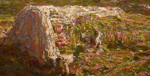 Emilio Longoni, Primavera alpina, 1909, particolare