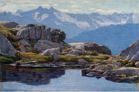 Emilio Longoni, Trasparenze alpine, 1903