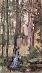 Giovanni Fattori, Donna nel bosco, 1874-75