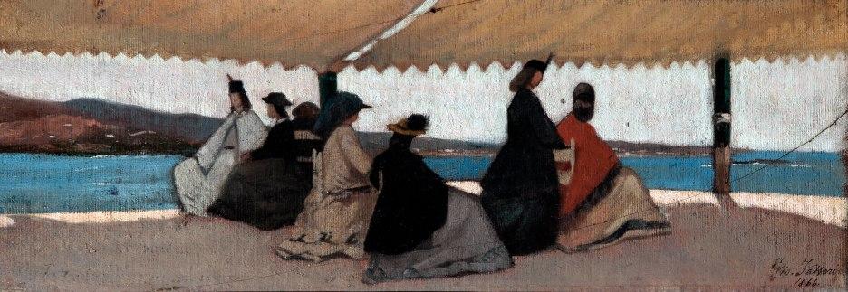 Giovanni Fattori, La Rotonda dei Bagni Palmieri, 1866