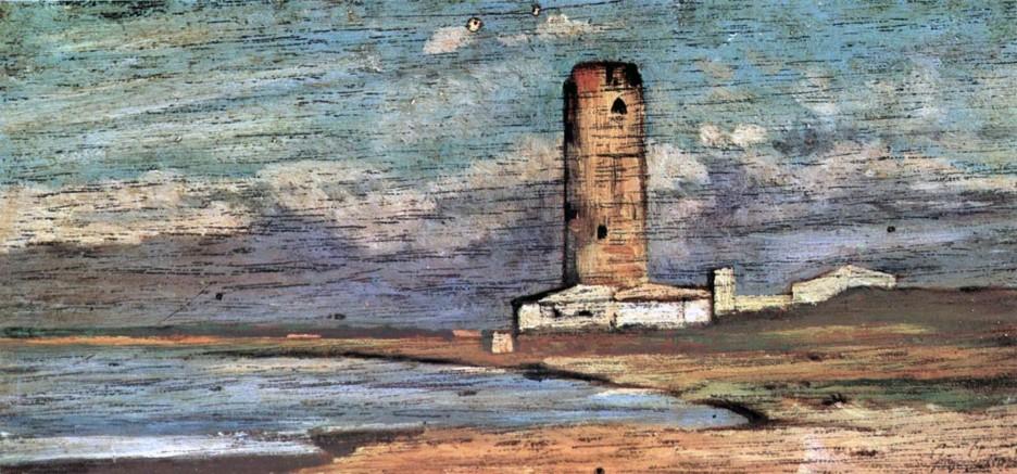 Giovanni Fattori, La torre di Magnale, 1885-90