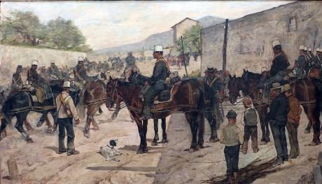 Giovanni Fattori, Esercitazioni militari, 1890