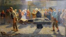 Giuseppe Pellizza da Volpedo, Il ritorno dei naufraghi al paese (l'annegato), 1894
