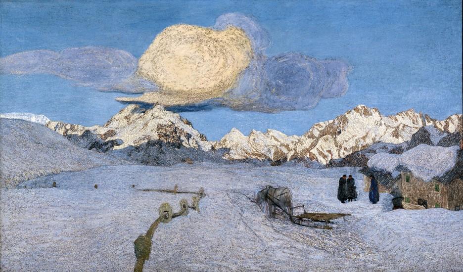 Giovanni Segantini Trittico delle Alpi quadro