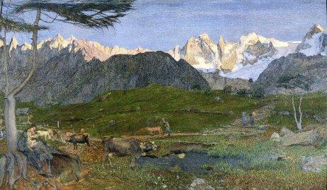 Giovanni Segantini Trittico delle Alpi vita