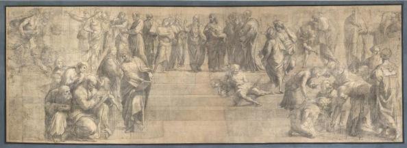 Raffaello Sanzio cartone preparatorio scuola di Atene