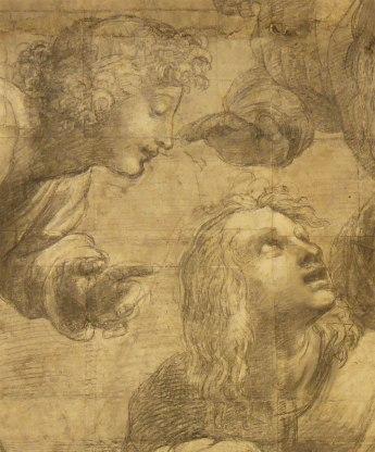 Raffaello Sanzio, Cartone preparatorio per La Scuola di Atene - dettaglio 10
