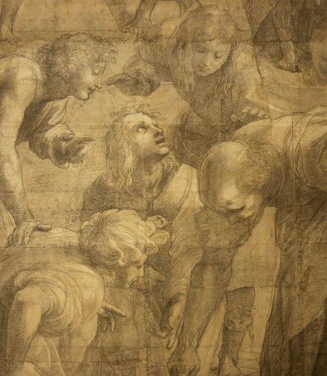 Raffaello Sanzio, Cartone preparatorio per La Scuola di Atene - dettaglio 11