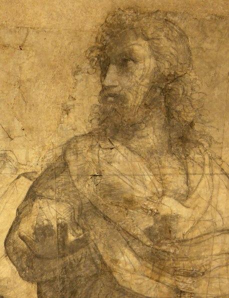 Raffaello Sanzio, Cartone preparatorio per La Scuola di Atene - Dettaglio 2