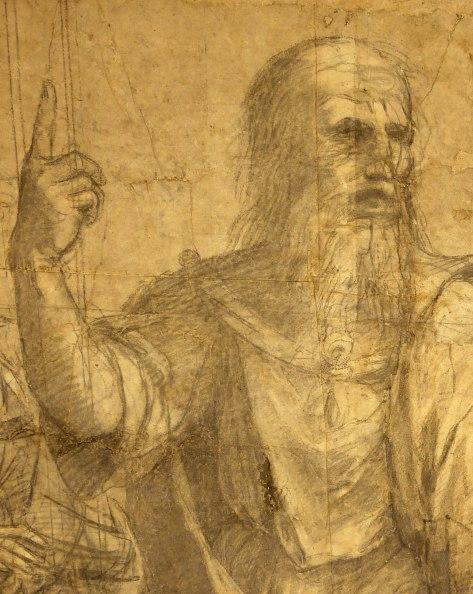 Raffaello Sanzio, Cartone preparatorio per La Scuola di Atene - Dettaglio 3
