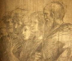 Raffaello Sanzio, Cartone preparatorio per La Scuola di Atene - dettaglio 4