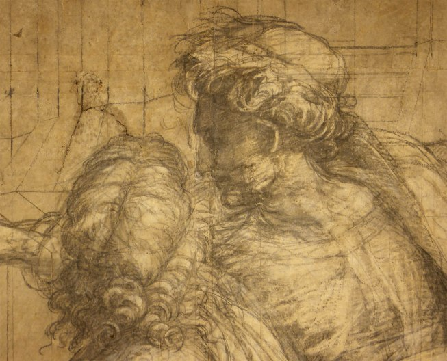 Raffaello Sanzio, Cartone preparatorio per La Scuola di Atene - dettaglio 5