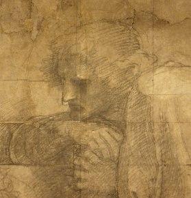 Raffaello Sanzio, Cartone preparatorio per La Scuola di Atene - dettaglio 6