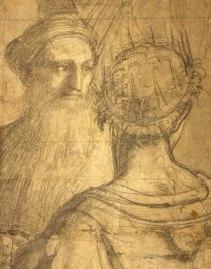 Raffaello Sanzio, Cartone preparatorio per La Scuola di Atene - dettaglio 7