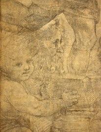 Raffaello Sanzio, Cartone preparatorio per La Scuola di Atene - dettaglio 8