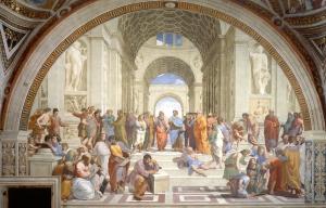 Raffaello Sanzio affresco la scuola di Atene