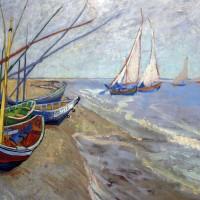 Quadro della settimana #76: Pescherecci sulla spiaggia di Saintes-Maries di Vincent Van Gogh