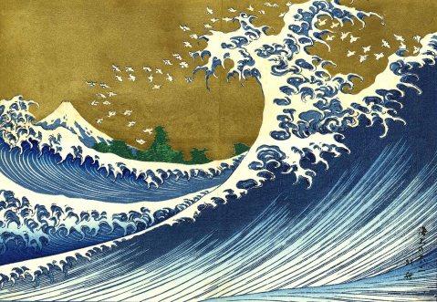 Katsushika Hokusai, Il Fuji dal mare, dal secondo volume di Cento vedute del Monte Fuji