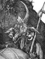 Albrecht Durer, Il cavaliere, la morte e il diavolo-dett