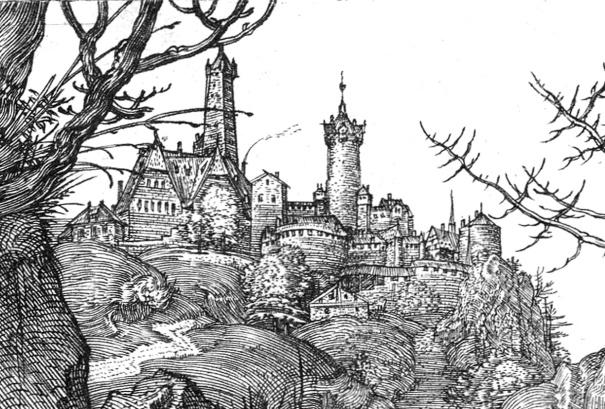 Albrecht Durer, Il cavaliere, la morte e il diavolo-dett6