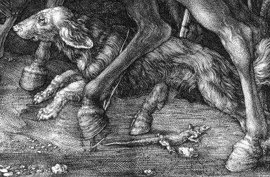 Albrecht Durer, Il cavaliere, la morte e il diavolo-dett7