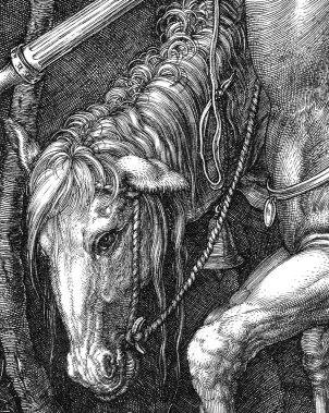Albrecht Durer, Il cavaliere, la morte e il diavolo-dett8