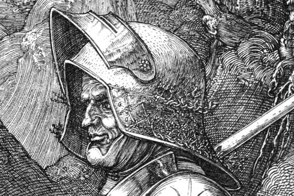 Albrecht Durer, Il cavaliere, la morte e il diavolo-dett9