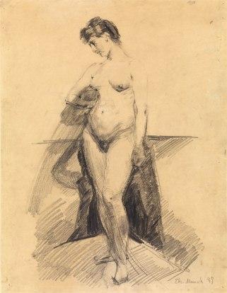 Edvard Munch, Donna, 1887