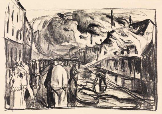 Edvard Munch, Incendio, 1920