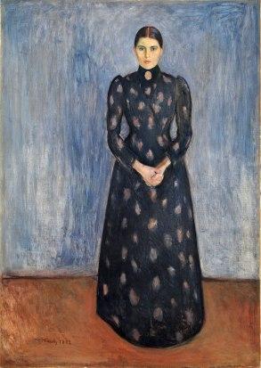 Edvard Munch, Inger in nero e viola, 1892