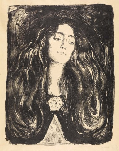 Edvard Munch, La spilla. Eva Mudocci, 1903