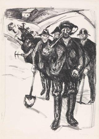 Edvard Munch, Lavoratori nella neve, 1912