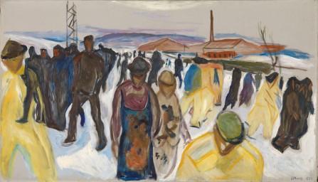 Edvard Munch, Operai al rientro, 1920