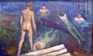 Edvard Munch, Ragazzi che si fanno il bagno, 1894