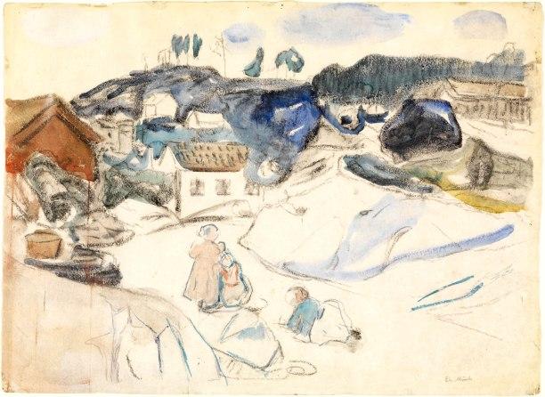Edvard Munch, Smedsbukta, Kragerø, 1912-15