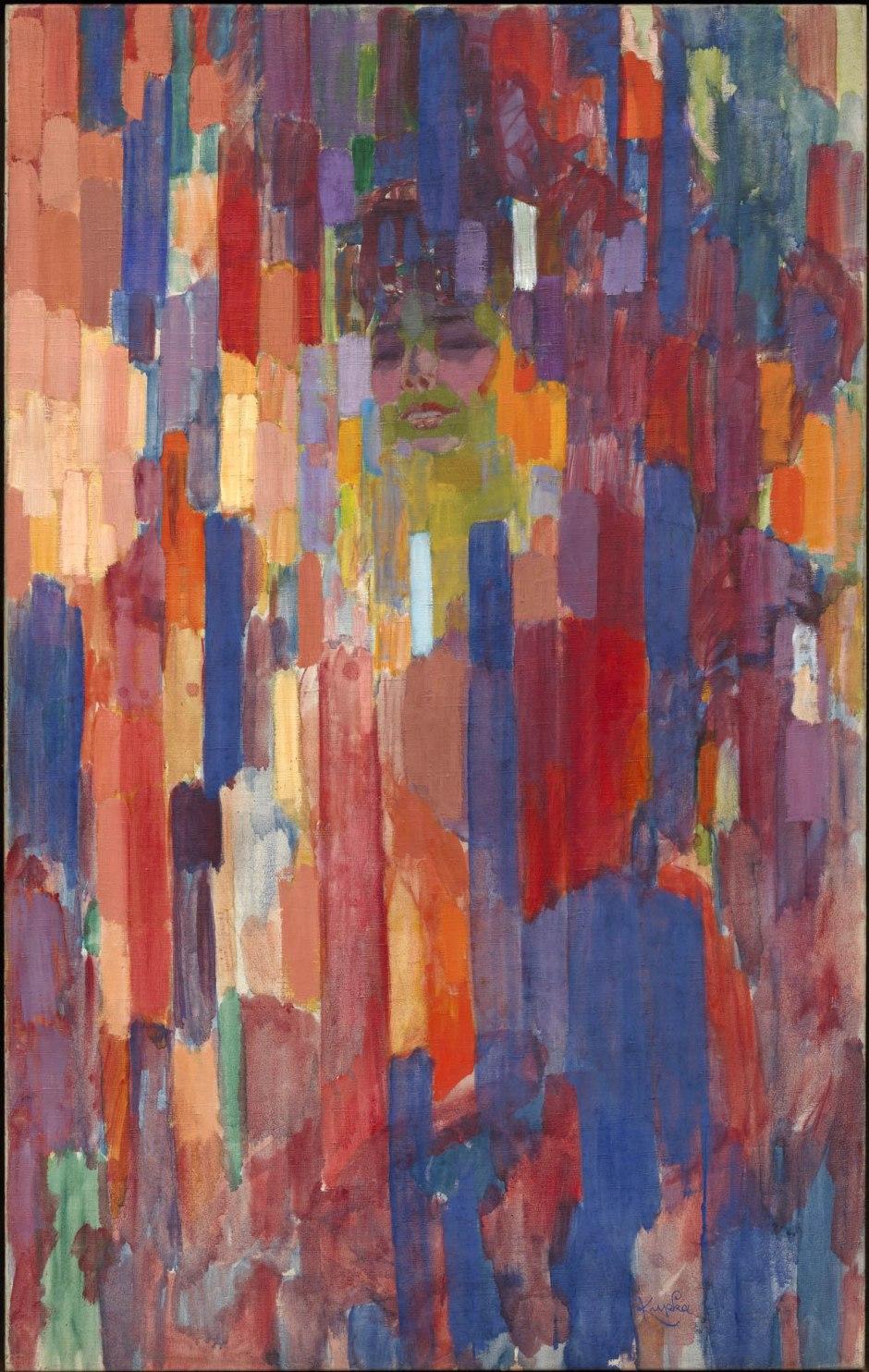 Frantisek Kupka, Madame Kupka tra verticali, 1910-11