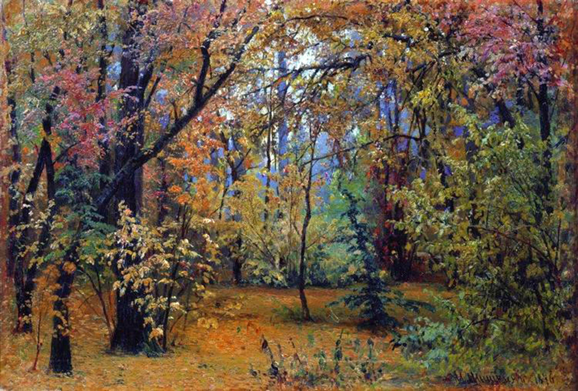 Ivan Ivanovič Šhišhkin, Foresta in autunno, 1876