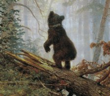 Ivan Shishkin, Mattino in una pineta, 1886 - dett 04