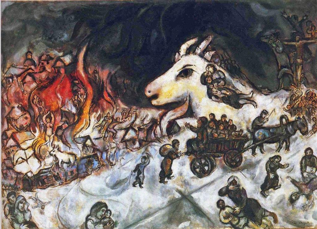 Marc Chagall quadro Guerra
