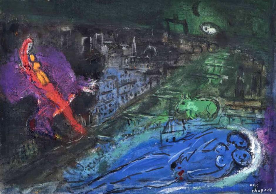 Marc Chagall quadro visioni di Parigi