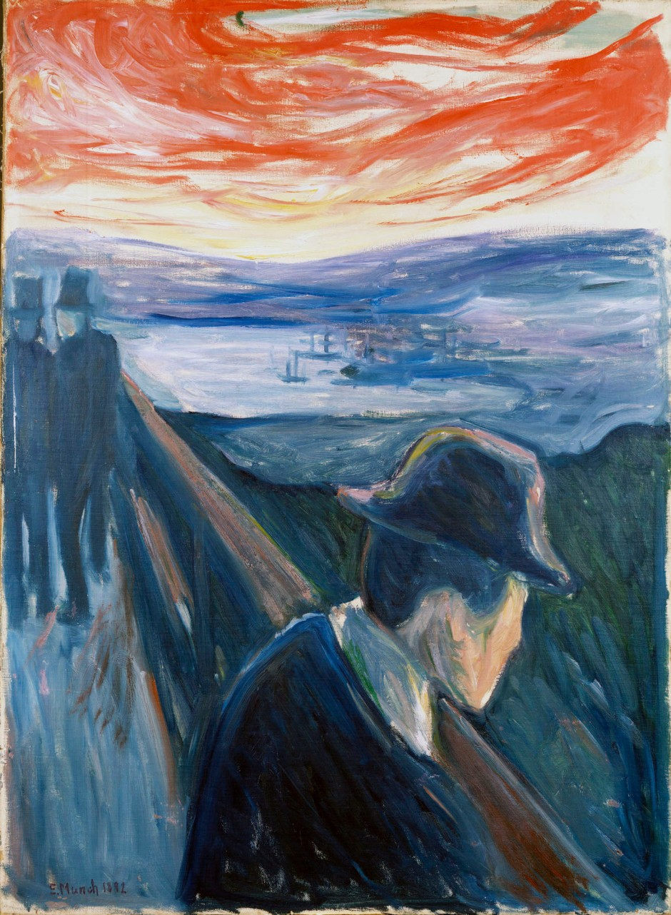 Edvard Munch quadro Disperazione 1892