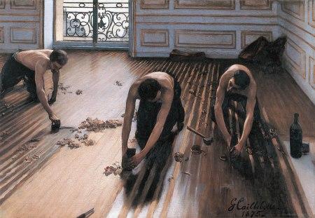 Gustave Caillebotte piallatori di parquet
