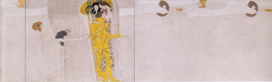 Gustav Klimt, Fregio di Beethoven, L'anelito alla felicità, 1902