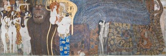 Gustav Klimt, Fregio di Beethoven,Spiriti ostili, 1902