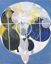 Hilma af Klint, I dipinti di grandi figure, n. 5, la chiave per tutte le opere, Gruppo III, La serie WU:Rosen, 1907